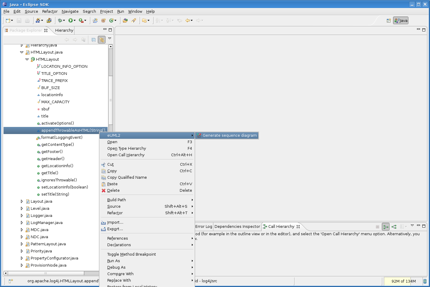 Soyatec open solution company xaml for java uml for eclipse and a filter dialog shows up to select the method calls to display in the diagram see preference page ccuart Images